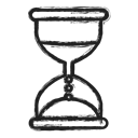 timer, Business, glass hour Black icon