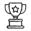 cup, Business, trophy Black icon