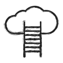 Cloud, Business, wheather Black icon