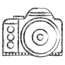 Camping, Camera, photo, picture Black icon