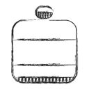 water, Camping, Camp, canteen Black icon