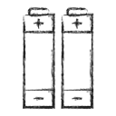 Battery, Camping Black icon