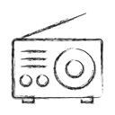 radio, Camping Black icon