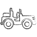 uaz, Military, jeep, Hummer Black icon