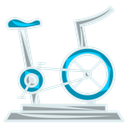fitness, gym, cycling, exercise Black icon