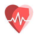Beat, heartbeat, Heart, health, healthcare Black icon
