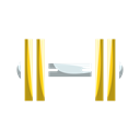 fitness, Muscles, gym, Barbell, Dumbbells Black icon