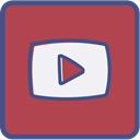 youtube, Metro, outline IndianRed icon