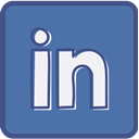 Linkedin, Metro, outline SteelBlue icon