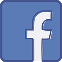 Facebook, Metro, outline SteelBlue icon