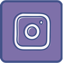 Metro, Instagram, outline LightSlateGray icon