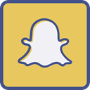 Metro, Snapchat, outline SandyBrown icon