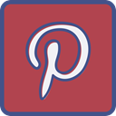 pinterest, Metro, outline IndianRed icon