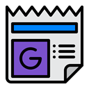 News, Service, Data, google, Newsfeed, daily, newspaaper Lavender icon
