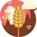 field, Farm, Wheat, Bakery, Rye, yumminky, ranching SaddleBrown icon
