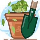 plant, nature, pot, yumminky, Bio, gardening, scoop DarkSlateGray icon