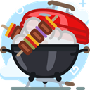 grill, Cooking, Barbecue, party, food, garden, yumminky Icon