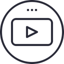 media, youtube, social icon, network, Logo, Social Black icon