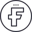 media, network, Logo, Facebook, Social, social icon Black icon