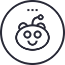 Reddit, Social, social icon, media, network, Logo Black icon