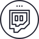 media, network, Logo, Social, Twitch, social icon Black icon