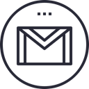 Social, social icon, media, network, Logo, gmail Black icon