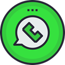 media, network, Logo, Social, Whatsapp, social icon LimeGreen icon