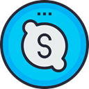 social icon, media, network, Logo, Skype, Social DeepSkyBlue icon