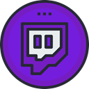media, network, Logo, Social, Twitch, social icon BlueViolet icon