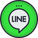 line, Logo, Social, social icon, media, network LimeGreen icon