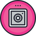 media, network, Logo, Social, social icon, ig PaleVioletRed icon