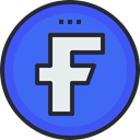 Facebook, Social, social icon, media, network, Logo RoyalBlue icon