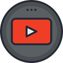 media, network, social icon, Logo, Social, youtube DarkSlateGray icon