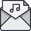 Email, envelope, mail, Letter, Business, Address, Communication, Mailbox WhiteSmoke icon