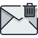 Email, envelope, mail, Communication, Mailbox, Letter, Business, Address Lavender icon