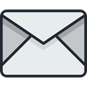 Email, envelope, mail, Letter, Business, Address, Communication, Mailbox Lavender icon