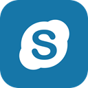 Skype, Social, Communication, media, video, online DarkCyan icon