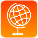 earth, globe, world, scientific DarkOrange icon