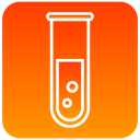 test, tube, scientific, lab OrangeRed icon
