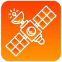 scientific, Satellite DarkOrange icon