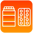 scientific, Medicines OrangeRed icon