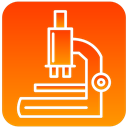 scientific, microscope OrangeRed icon