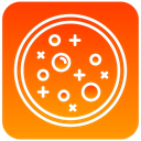 scientific, Dish, petri OrangeRed icon