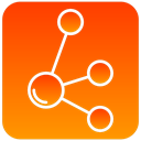 scientific, Molecule OrangeRed icon