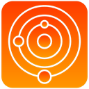 system, scientific, solar DarkOrange icon