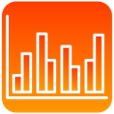 statistics, scientific OrangeRed icon