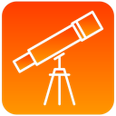 view, scientific, telescope DarkOrange icon