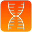 scientific, structure, dna OrangeRed icon