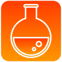 tube, scientific, Flasks OrangeRed icon