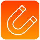 magnet, scientific OrangeRed icon